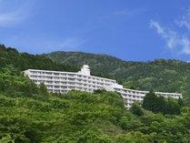 緑深い箱根・仙石原の山に囲まれたロケーション