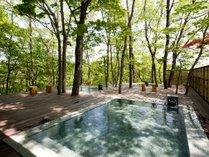 【初夏の露天風呂】みずらなの湯/女性用大浴場