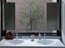 【特別室】ビューバスツインルーム/解放感溢れる洗面台