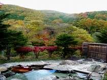女湯露天風呂からの景観(去年11月初旬撮影)