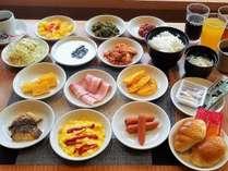 朝食バイキング(一例) ※一部メニューは日替わりで提供いたします。