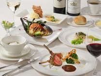 【夕食イメージ】フレンチを主体としたコース料理です