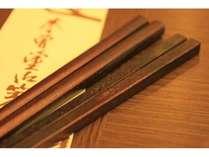 木曽奈良井宿の特産品「木曽桧拭き漆箸」・「あすなろ拭き漆箸」