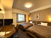 ツインルーム:ベッド2つを設置しており、ご家族連れに好評のお部屋です。