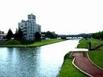 リバーサイドホテルを囲む桜川 すぐ近くで野鳥に出会えますよ。。