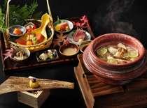 【夕食イメージ】栃木の里山を感じさせる上質な会席料理をご用意。
