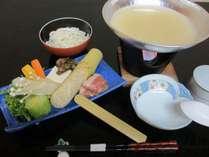 濃厚!メイン特製白湯スープの福味鶏鍋会席♪