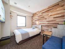 【スタンダードルーム】眠りを追及した150cm幅のワイドベッドと適度な硬さのマットでぐっすり