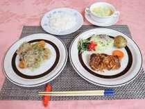 *夕食(一例)家庭的なお料理をお届けします。手作りでやさしさを感じる味です。