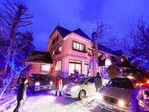 *外観(冬)スキー乾燥室も完備したプチホテルです。グループ利用にもオススメ!