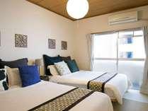 【タイプB室】両方のベッドルームにエアコン完備。