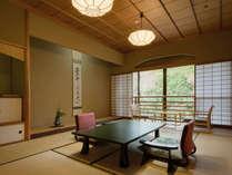 【和室二間 50平米】お部屋はすべて数奇屋造りでしつらえにもこだわっております。