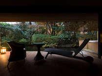 【和洋室露天風呂付 70平米】2段池と山を眺めながら寛げる、ラグジュアリーなお部屋。