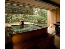 【露天風呂付和室 空蝉】客室露天風呂