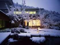 ■雪に包まれた庭園