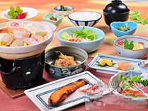 *[夕食一例]白馬の無農薬野菜を使用しボリュームもしっかり楽しめる和食膳