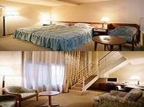 1階 談話室 2階 寝室
