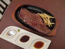 連泊ステーキサービス(夕食ビュッフェに1室につき1枚付きます)