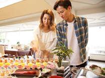 【ビュッフェ】お食事はビュッフェ形式でお楽しみ下さい