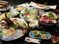 【人気NO1】アワビか伊勢海老を選べるプランのお料理一例です。自分の好きな方をお選びください!