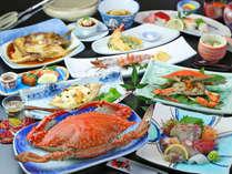 ■【渡り蟹フルコース】当館自慢の大きい渡り蟹をふんだんに使ったお料理が並びます。是非どうぞ!