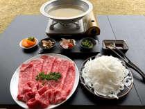 【夕食】自慢の牛テールしゃぶしゃぶ…ぜひご賞味下さい♪