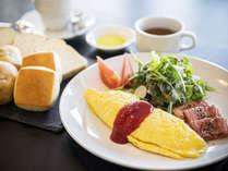 洋朝食でゆっくりモーニング♪