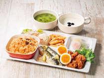 【忙しい朝に栄養チャージ】ボリュームたっぷりの肉・魚メニューをお召し上がりください。