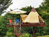 世界初!空中の里山グランピングサイト「マッシュルームキャンプ」は1日1組限定です。