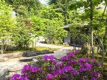 【外観】玄関前_庭園