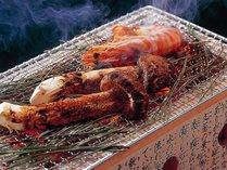 【お料理】松茸の炭焼き(イメージ)