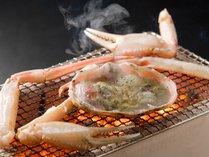 【カニ料理】本ずわい蟹を炭火焼きで(イメージ)