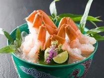 【かに料理】ずわい蟹の洗い(刺身)イメージ