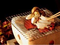 【お料理】鮑と松茸の石焼き(イメージ)