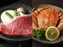 北海道ならでは豪快さ!毛ガニor和牛ステーキ