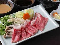 北海道産黒毛和牛のしゃぶしゃぶは、とろける味わい