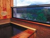 ◆露天風呂付客室。お部屋は阿寒湖側ではありませんが、露天風呂からは阿寒湖が望めます。