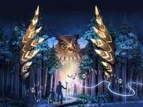 ◆【カムイルミナ】アイヌの物語をデジタルアートで表現(7/5~11/10迄※予定)提供元:MomentFactory