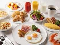【朝食ブッフェ】日替わりで25種以上のメニューをご用意