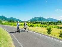 レンタサイクルで高原を散走!