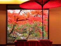 秋(ロビーからの眺め)