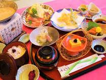 【白味噌鍋会席】さぬき名物の白味噌味のお鍋がメインです。