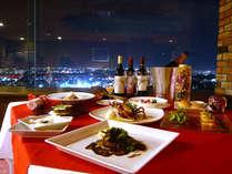 『ロマンティックな夜景と共にお食事を、、、』
