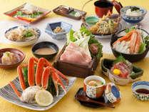 ★蟹会席(至福コース)蟹半肩+蟹鍋付!女将自慢のお料理です!
