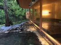 館内大浴場『山の湯』が生まれ変わりました。より増した大自然との一体感。