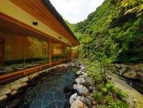 眼前に広がる自然の優美さ「山の湯」