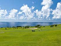 早朝の景色とゴルファーを眺めての朝食はサザンならではの朝の光景です。