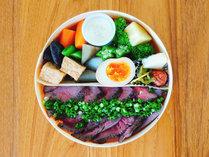 お弁当(夕食):夕食 おおいた和牛ステーキ弁当/一例