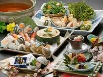 鰆、油目、蛤、たけのこ、わらび…春の旬がいっぱいの春のお鍋料理