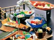 夏の旬の食材いっぱい、目にも涼しい月毎に替わる夏会席(イメージ)